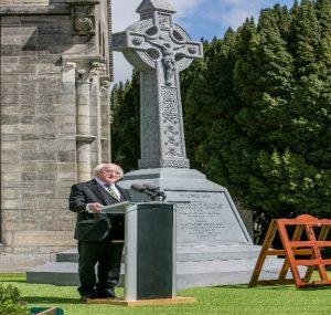 President Higgins speaking