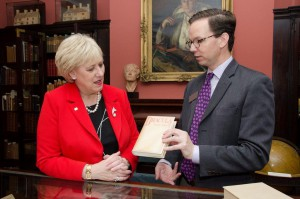 Minister Humphreys visits the Rosenbach collection including original James Joyce and Bram Stoker manuscripts